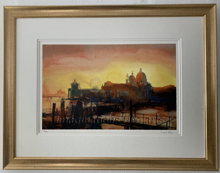 Cecil Rice Silk screen print double mounted and framed