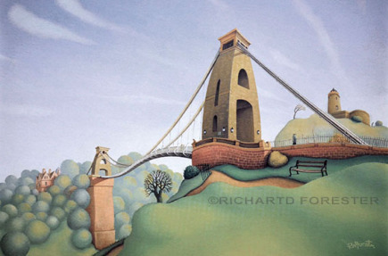 Imaginations fine arts, Clifton suspension bridge, Giclee stretched canvas