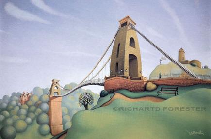 Imaginations fine arts, Clifton suspension bridge, Giclee stretched canvas