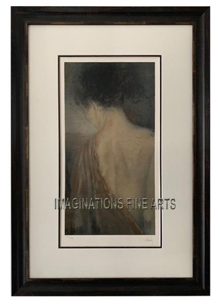 The Silk Robe by the artist Domenech, Limited Edition Silkscreen 153/195